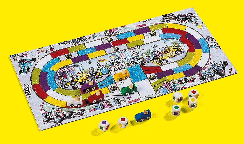 HABA Monza-ESP (302247), Juego de Mesa de Dados, con una turbulenta Carrera de Coches para 2-6 niños de 5 años, para Aprender los Colores. (4416): Haba: Amazon.es: Juguetes y juegos