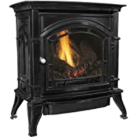 Ashley AGC500VFBN Vent-Free Black Enameled Porcelain Cast Iron Stove, 31,000 BTUs (Natural Gas)