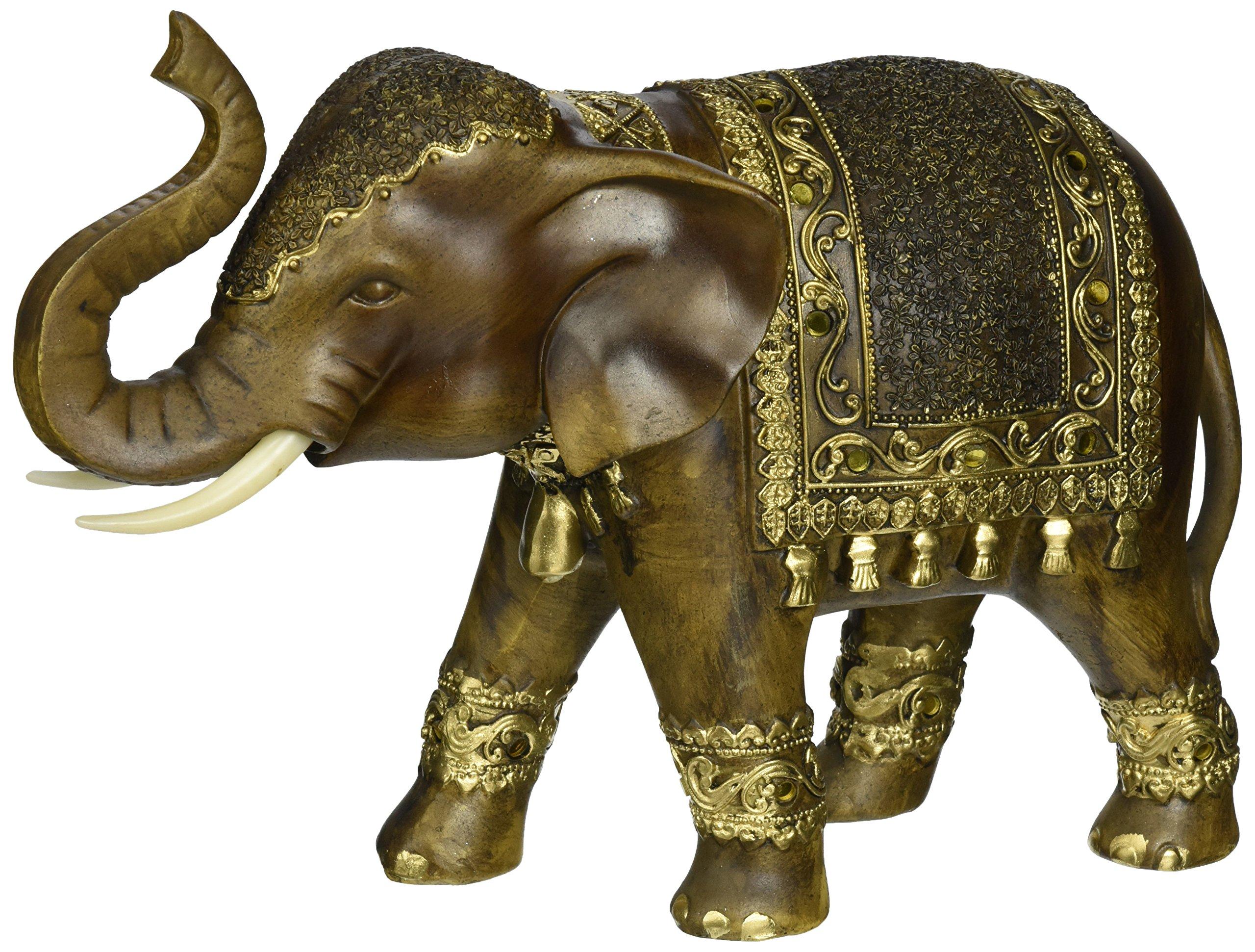 Deco 79 Polystone Elephant, 11 by 8-Inch by Deco 79 (Image #2)