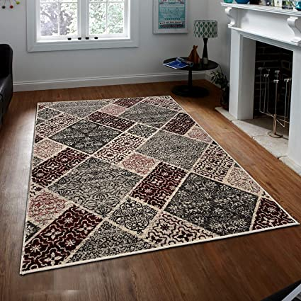 Amazoncom Prestige Decor Area Rugs Cosi Collection Gray Area Rug