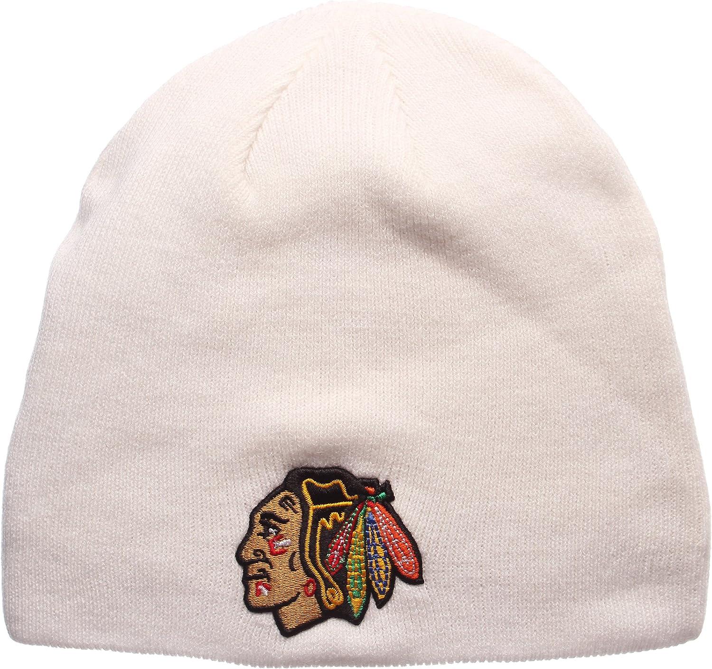 Zephyr Toronto Maple Leafs Royal Edge Skull Cap NHL Cuffless Winter Knit Beanie Toque Hat