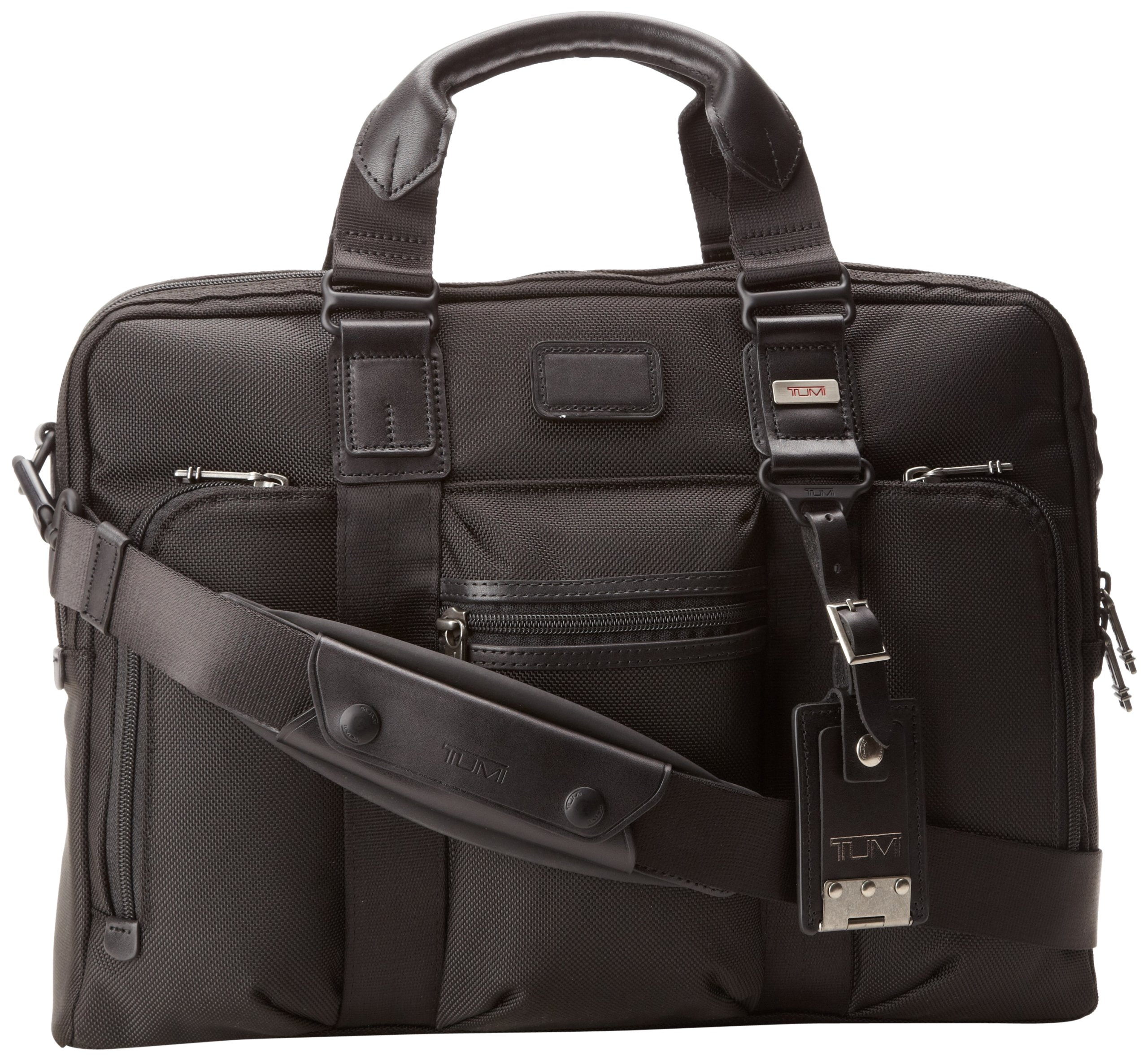 Tumi Alpha Bravo Business McNair Slim Brief Case,Black,one size by Tumi