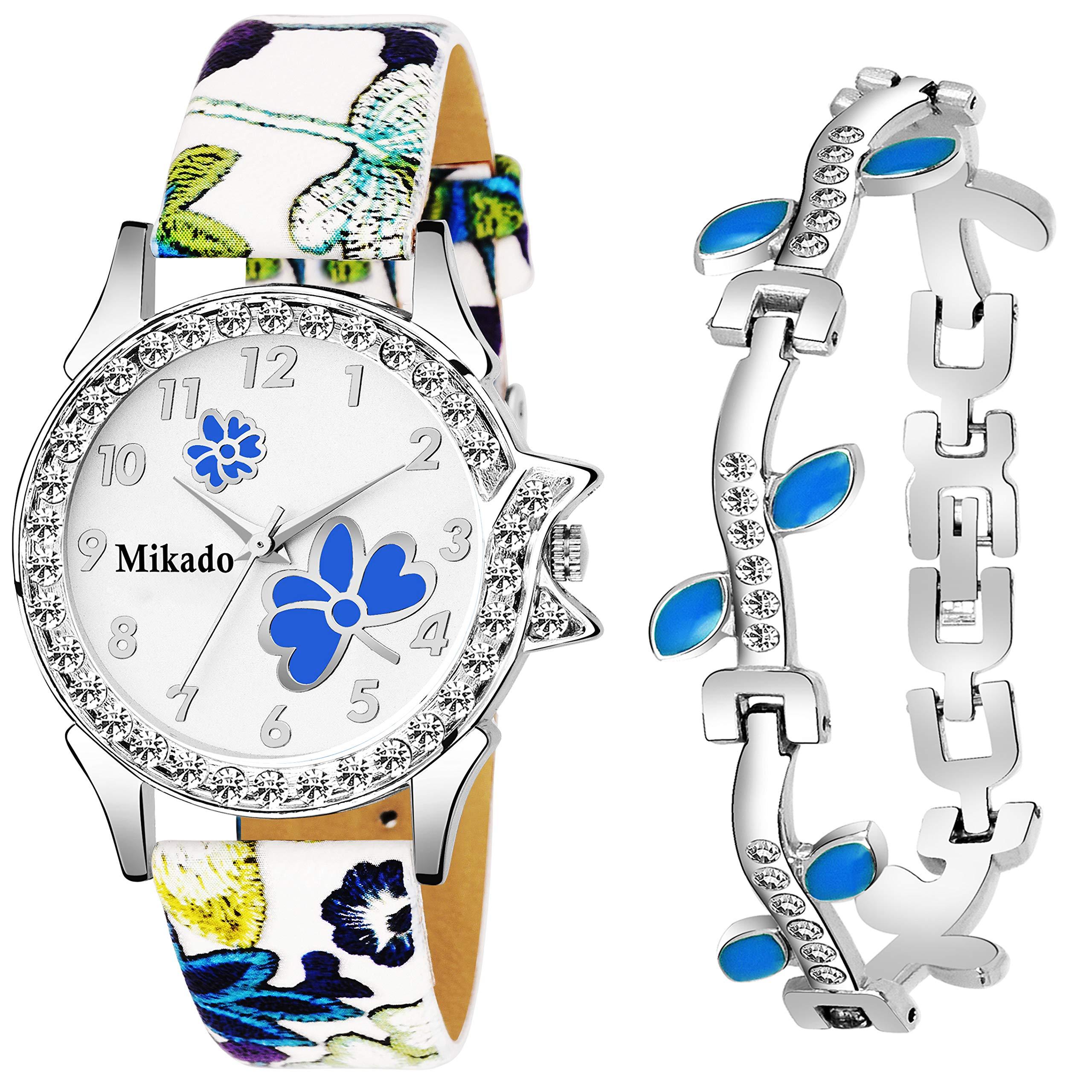 Evergreen Bracelet Style Combo Set for Girls Analog Watch - for Girls