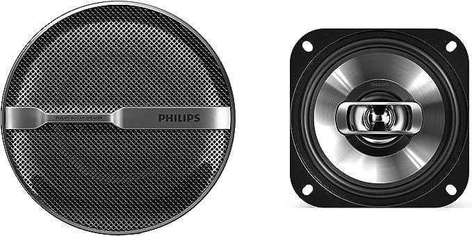 Altavoces coaxiales bidireccionales para Coche Color Negro 10.2 cm, 4, 2 v/ías, 150 W Philips PHICSP415