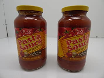 Red & White Pasta Sauce Mushroom Flavor, 2 Pack x 24 oz