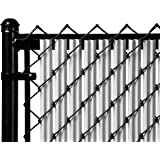 4ft Gray Ridged Slats for Chain Link Fence