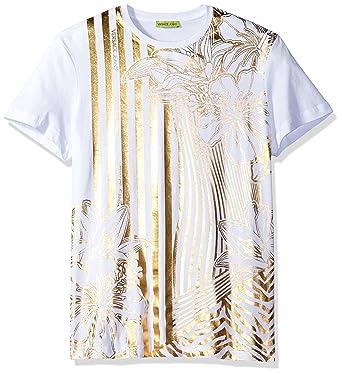 ccb40c50e3ae Amazon.com  Versace Jeans Men s Gold Print T-Shirt  Clothing