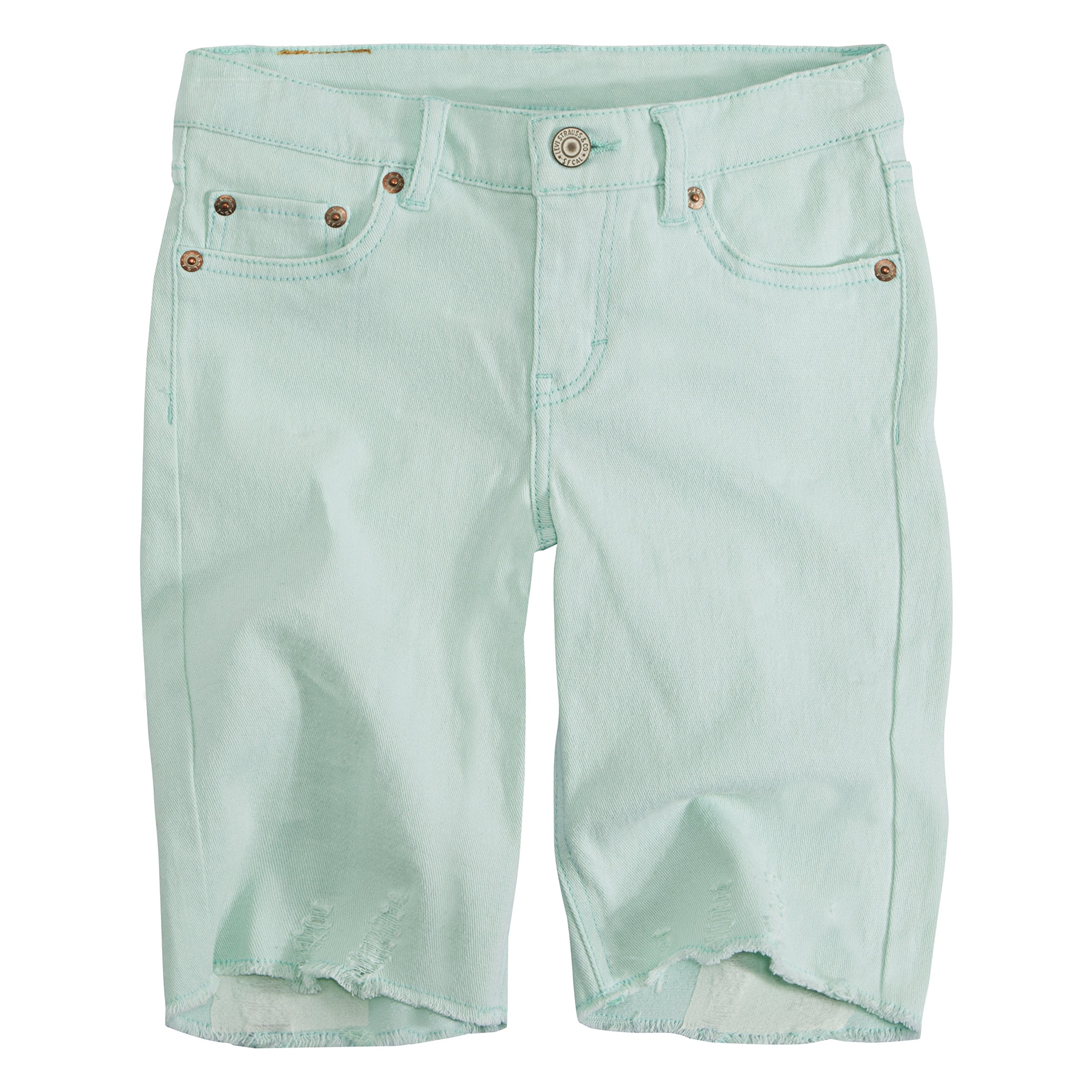 Levi's Big Girls' Denim Bermuda Shorts, Fair Aqua, 12