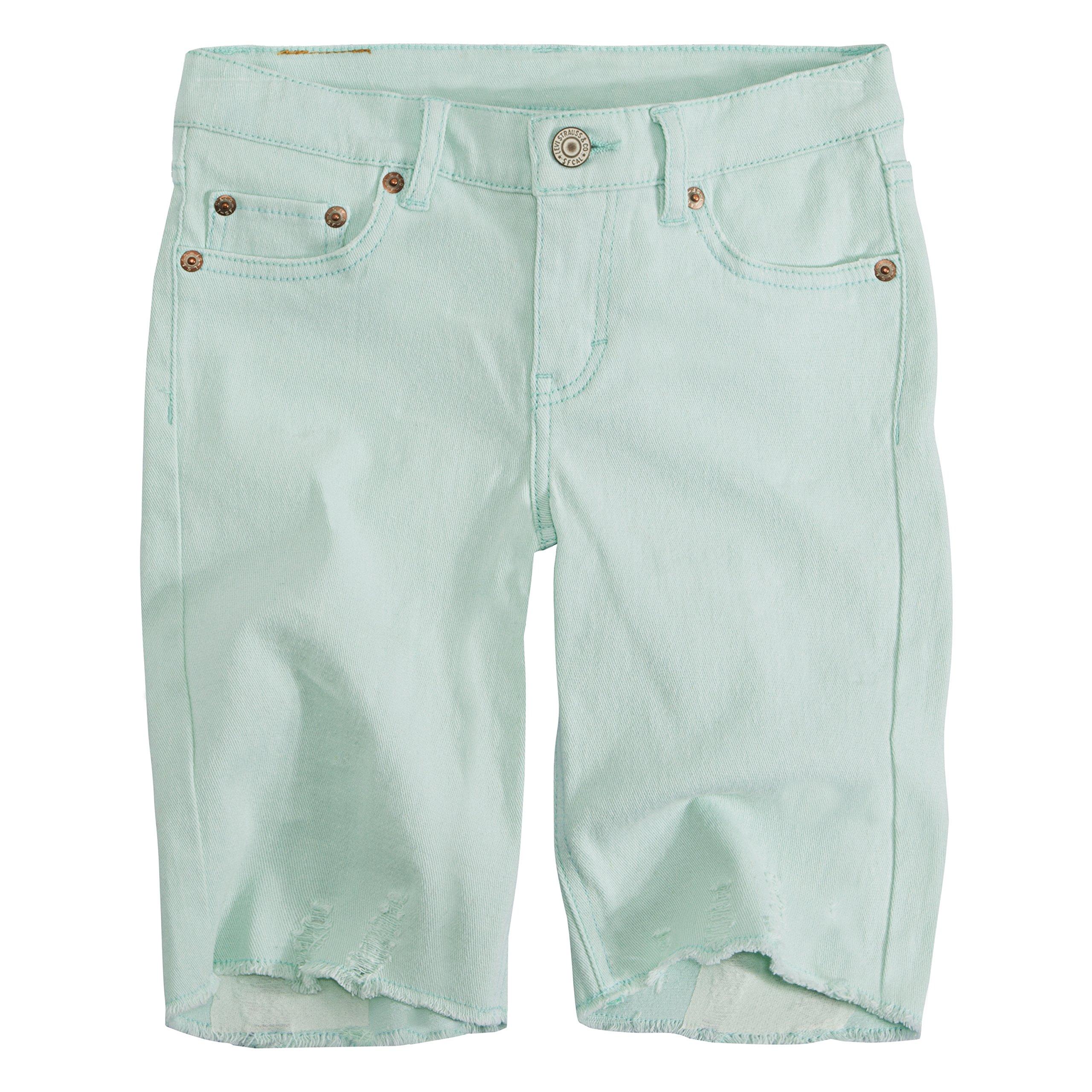 Levi's Big Girls' Denim Bermuda Shorts, Fair Aqua, 10