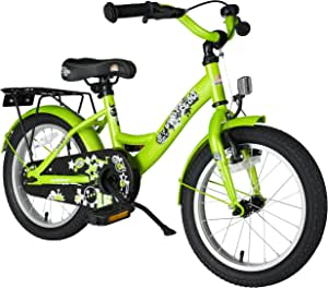 BIKESTAR Safety Sport Kids Bike Bicycle with sidestand and Accessories for Age 4 Year Old Children | 16 Inch Classic Edition for Boys and Girls |