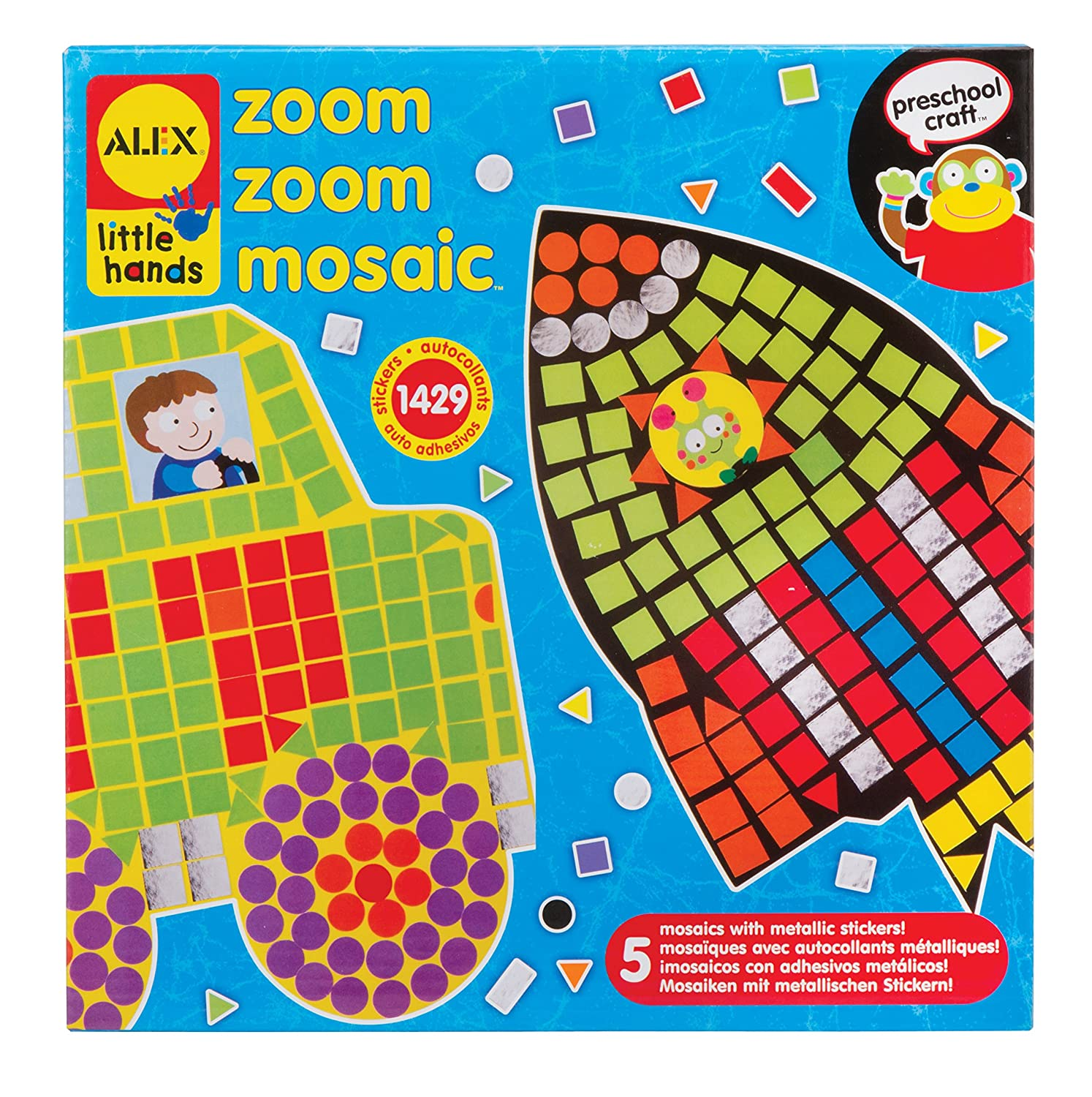 Alex Toys Early Learning Zoom Zoom Mosaic Little Hands 1405