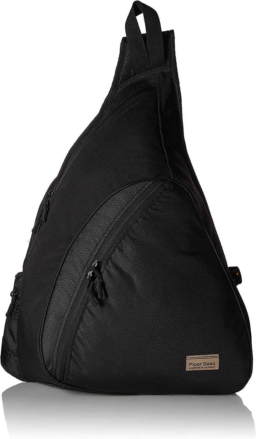 Piper Gear Highrise Sling Shoulder Laptop Ready Backpack (Black, 22x15x5-Inch)