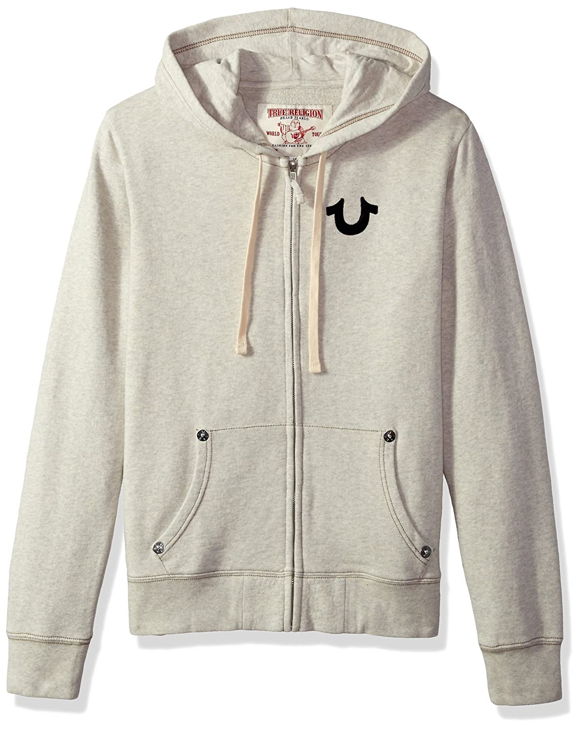 d88e1656b67 Amazon.com: True Religion Men's Buddha Logo Zip Hoodie2: Clothing