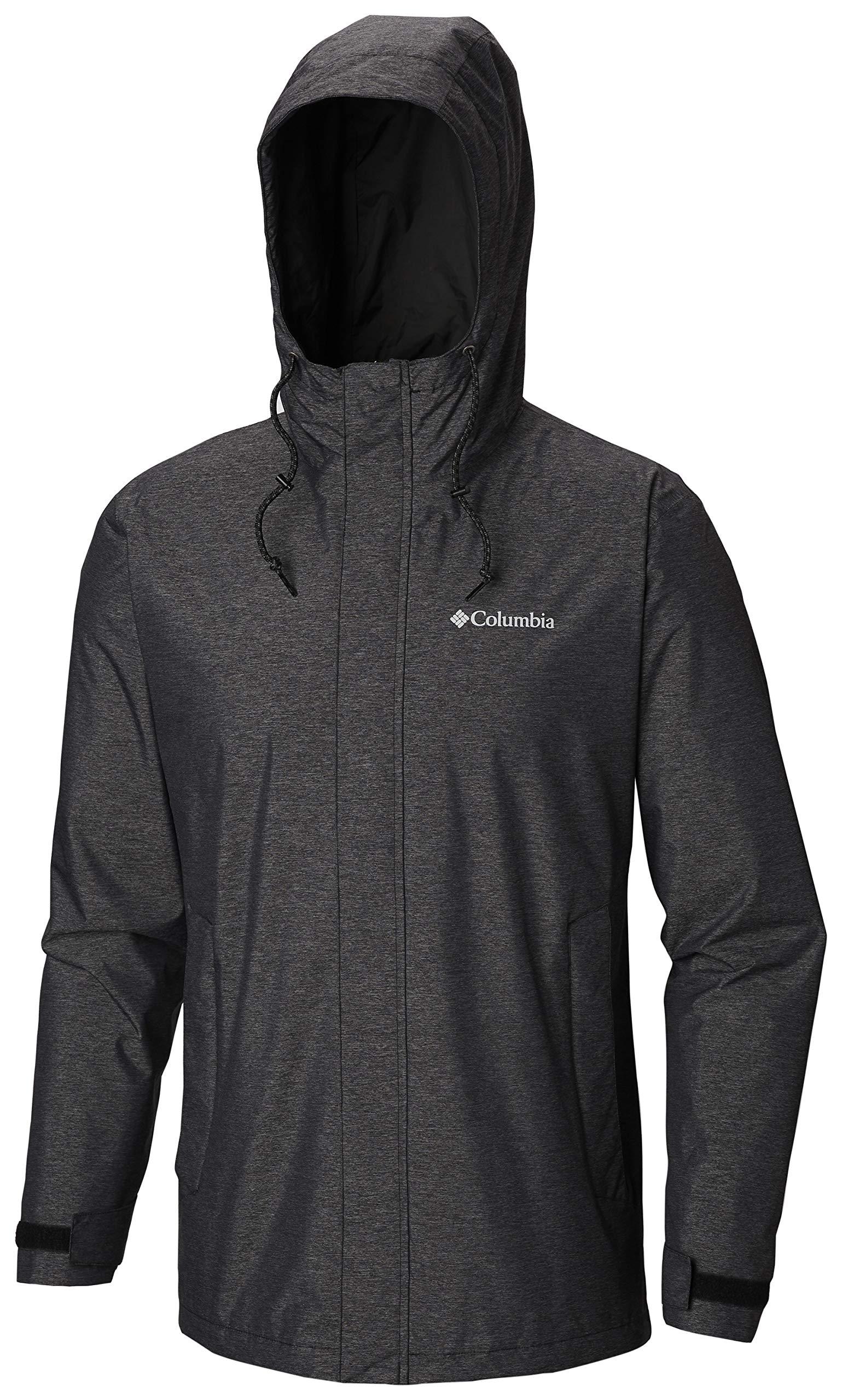 Columbia Men's Norwalk Mountain Jacket, Black Heather, Large by Columbia