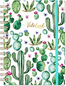 "Ruled Notebook/Journal - Lined Journal, 6.3"" X 8.35"", Hardcover, Back Pocket, Strong Twin-Wire Binding with Premium Paper, College Ruled Spiral Notebook/Journal, Perfect for School, Office & Home"