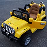 Jeep style DUBLE Battery Operated Ride On Car Toy With TWO MOTORS MP3 Remote Control and Leather seat