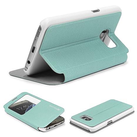 Urcover® Funda Galaxy S7, Carcasa Libro S-View, Cierre magnetico, Funcion Soporte, Anti-arañazos, Billetera Flip Cover Protector Samsung Galaxy S7 - ...