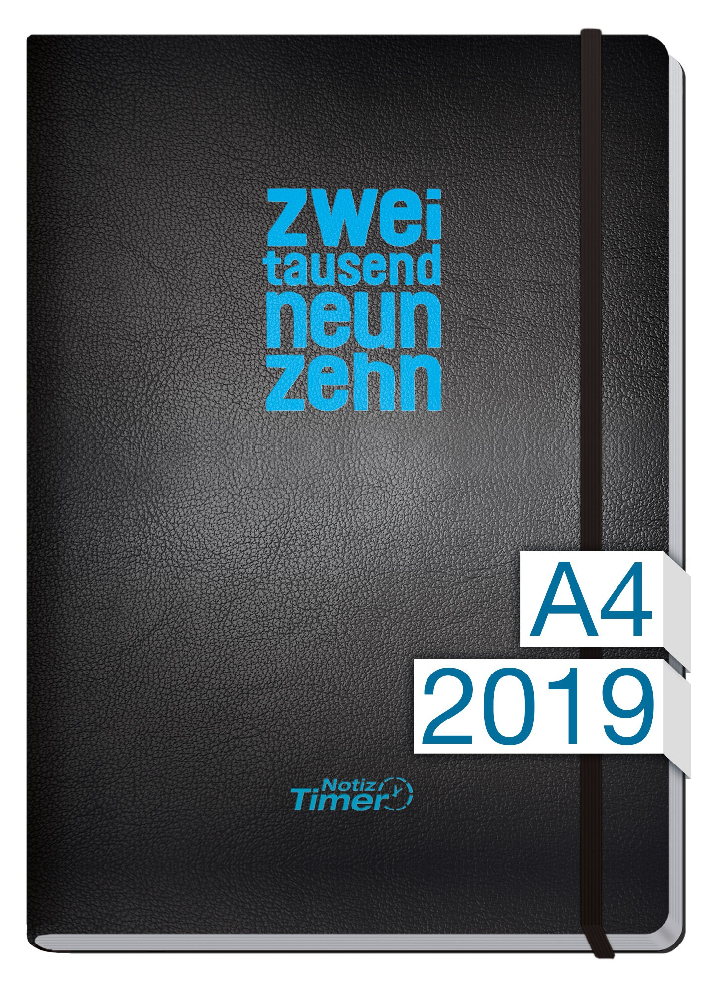 Chäff Wochen-Notizkalender Classic Kalender 2019 A4 Maxi - Extra-Groß Jan-Dez 2019 - Notiz-Timer - Terminplaner - Wochenkalender - Organizer - Terminkalender mit Wochenplaner - Soft-Cover