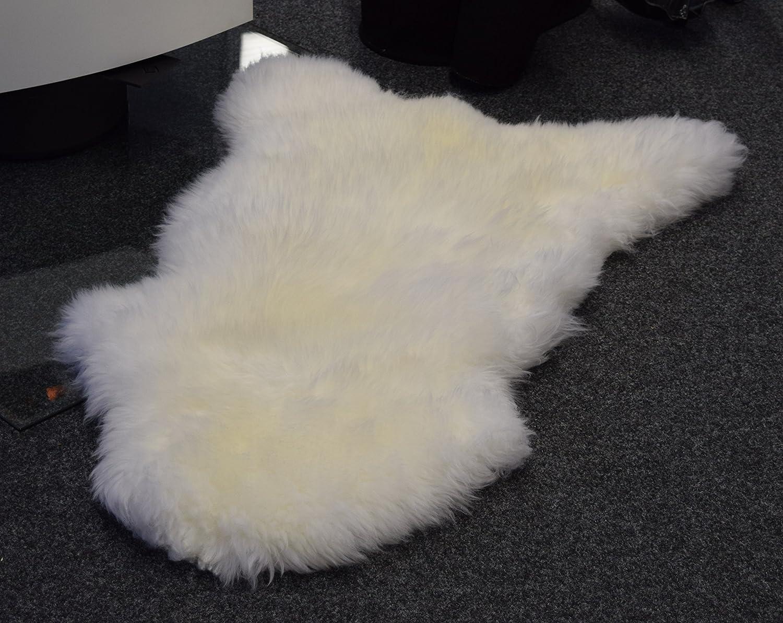 90-100 cm Blanc Tannage Ecologique Naturasan Peau dagneau // Peau de mouton blanche naturelle