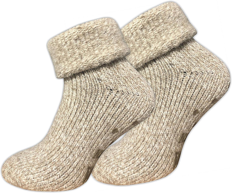 ABS Sohle 1er-Pack | 4er-Pack ca/·wa/·so Damen Stoppersocken aus Wolle