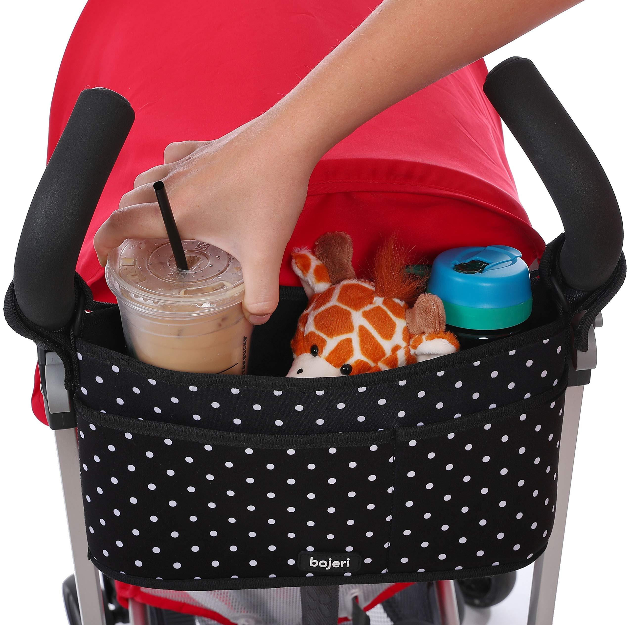 Stroller Organizer Caddy with Deep Insulated Cup Holders | Universal Fit | Stroller Storage Bag Hangs Straight | Stroller Accessory for Uppababy Vista, Cruz, City Mini, Bob, Britax, Babyzen, Bugaboo