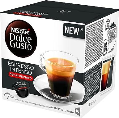 NESCAFÉ Dolce Gusto Espresso Intenso Descafeinado | Pack de 3 x 16 ...