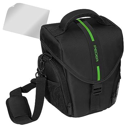 Pedea SET012-65060302-0008 - Funda para cámara Nikon D5100, D3100 (Incluye lámina Protectora de Pantalla, Correa, 3 Compartimentos para Accesorios y ...