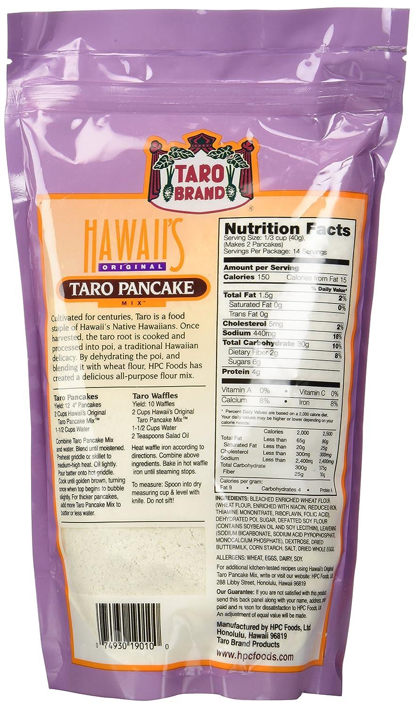 TARO Pancake Mix 567 g Hawaiian tortitas: Amazon.com ...