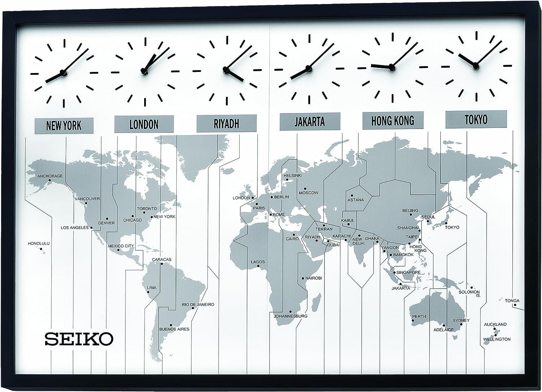 Seiko - Reloj de pared (60 cm, 60 cm, hora mundial)