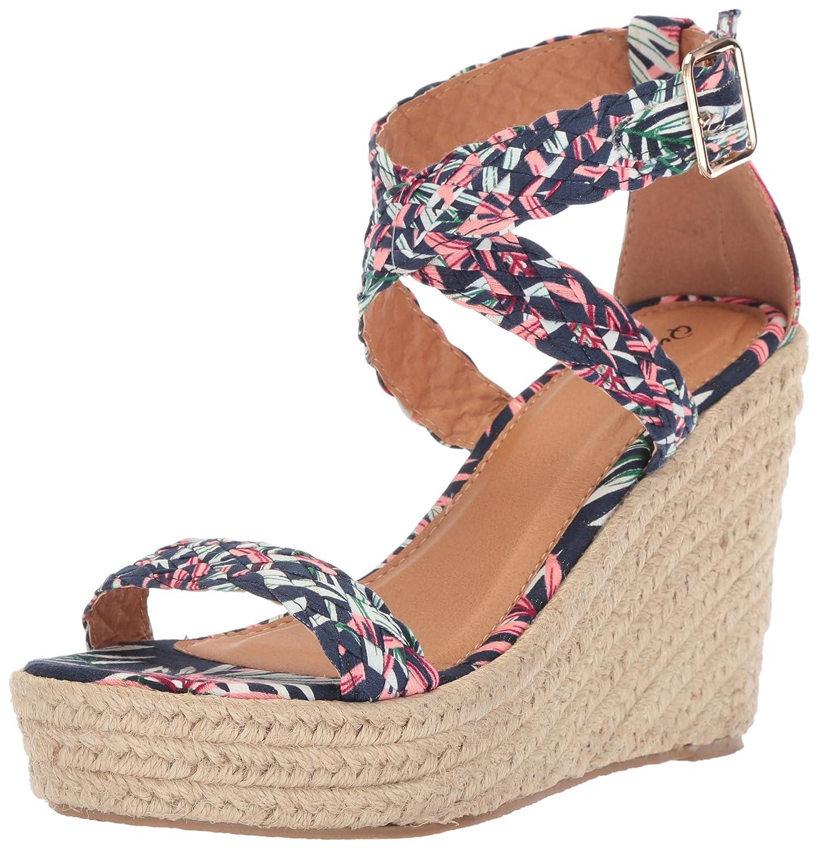 19a7c942307 Qupid Women's Espadrille Wedge Sandal