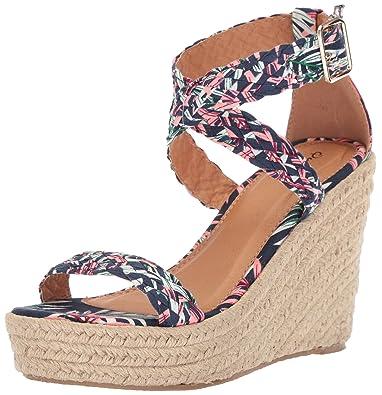 d8e54697ae6 Qupid Women's Espadrille Wedge Sandal