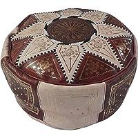 Puf marroquí puf Marruecos de Piel auténtica Oriental