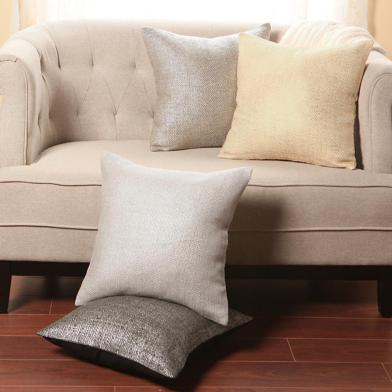 Amazon Best Home Fashion Metallic Weave Pillow Insert Not