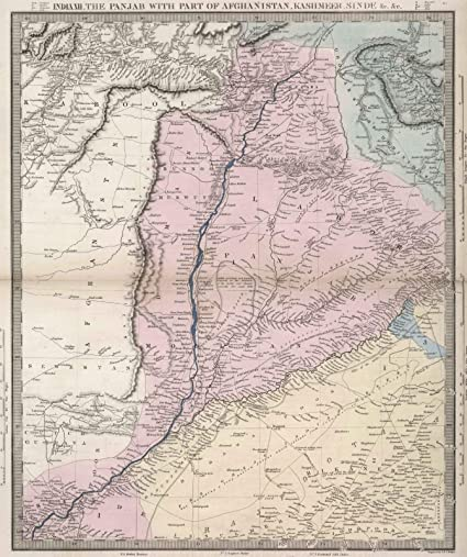 Amazon world atlas 1856 india xii the punjab with part of world atlas 1856 india xii the punjab with part of afghanistan kashmeer gumiabroncs Gallery