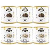 Augason Farms Freeze Dried Meat Variety Kit No. 10 Can 6-Pack