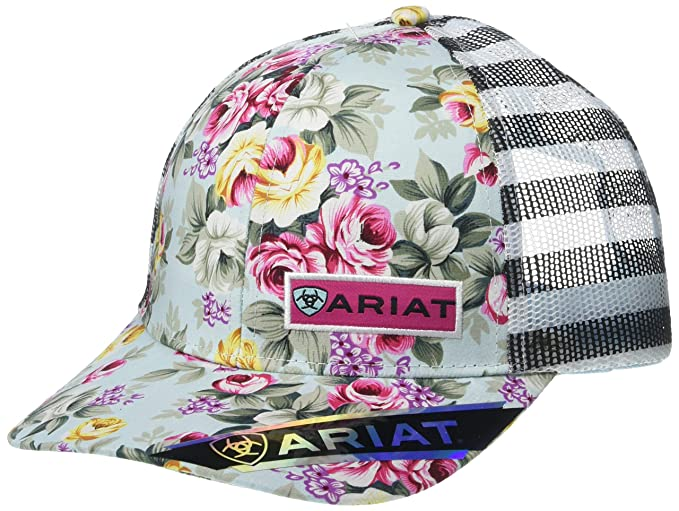 56d332b41b509 Ariat Women s Roses Mesh Snap Back Cap