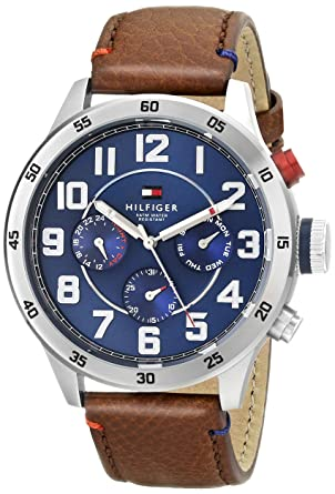 perfume Hostil Ascensor  Buy Tommy Hilfiger Men's 1791066 Stainless Steel Watch with Brown Leather  Band Online at Low Prices in India - Amazon.in