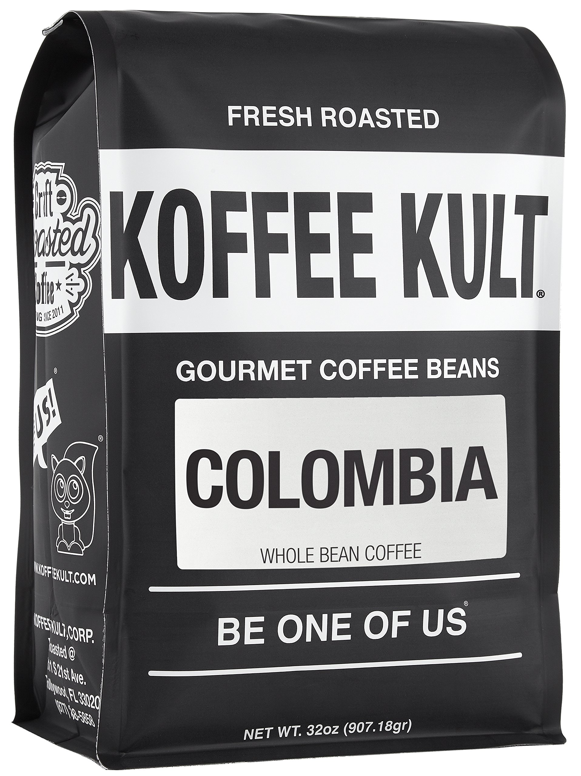 Koffee Kult Colombian Huila Fresh Coffee Beans - Whole Bean Coffee - Fresh Roasted 32oz by Koffee Kult