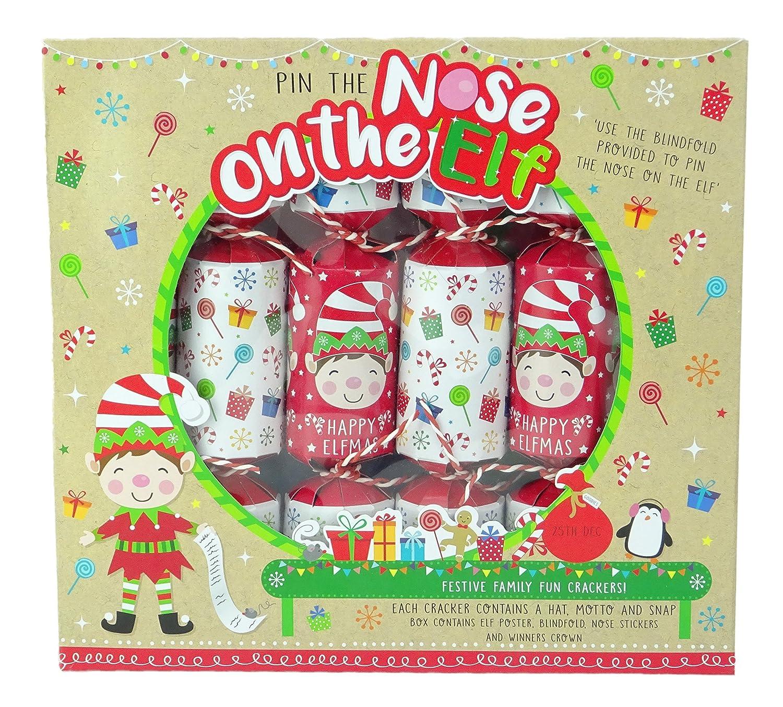 Toyland Pack of 6 Pin Die Nase auf dem Elf Spiel Christmas