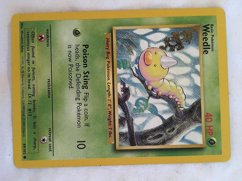 Pokemon Card WEEDLE Base Set Unlimited Edition 69//102 Common NM