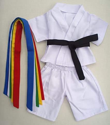 b297a354f8e Amazon.com  Karate Uniform Outfit Teddy Bear Clothes Fit 14