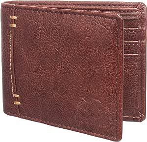 MOOCHIEF Artfificial Leather Wallet for Men- Brown