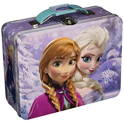 Disney Frozen Metal Tin Lunchbox - Purple: Kitchen & Dining
