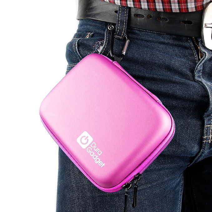 DURAGADGET Funda Rígida Rosa para Smartwatch Kurio/Vtech Kidizoom 2 - con Mini Mosquetón