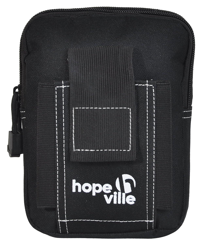 HOPEVILLE Hüfttasche mit Moole System, Robuste Bauchtasche für Damen und Herren, Premium Gürteltasche für alle Aktivitäten im Urlaub, Freizeit, Sport, Handwerk und Outdoor (Braun)