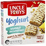 UNCLE TOBYS Muesli Bars Yogurt Topps Mango Passionfruit 6 Pack, 185g
