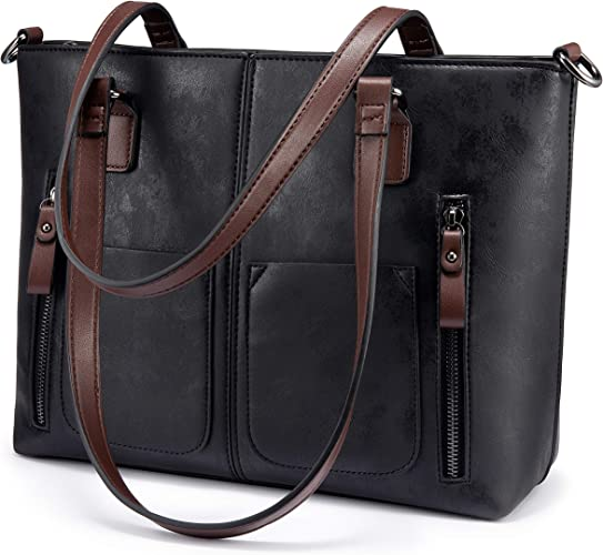 Womens Large Multi Pocket Faux Leather Crossbody Handbag Messenger Shoulder Bag