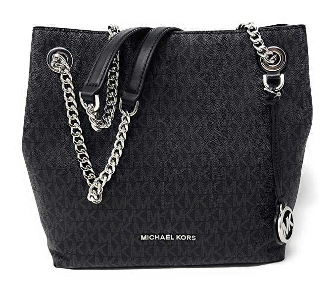 amazon com michael kors jet set chain medium pvc signature shoulder rh amazon com