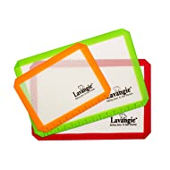 Silicone Baking Mat Set - Professional Heat-Resistant Non Stick Mats & Liners for Cookie Sheets by Lavangie (3 color pack)