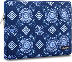 ZinMark Laptop Sleeve 13 Inch Compatible 2019 2018 MacBook Air 13 Inch Retina A1932, 13 Inch MacBook Pro A2159 A1989 A1706 A1708 | XPS 13, Water-Resistant Polyester Notebook Case, Diamond